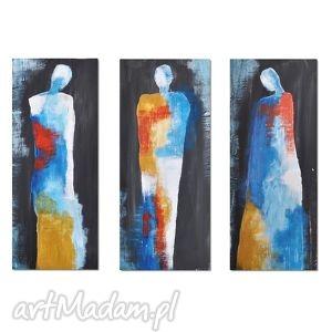 The visitors, nowoczesny obraz ręcznie malowany, obraz, nowoczesny, ręcznie, malowany