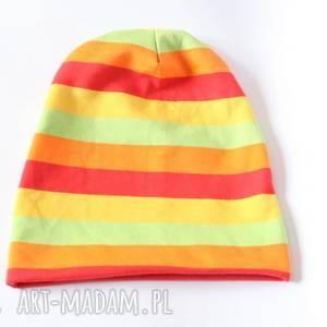 handmade czapki czapka dresowa wiosenna tęczowa box44