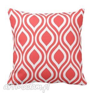 poduszki poduszka nicole rojo koralowo biała 6279, home, koralowa