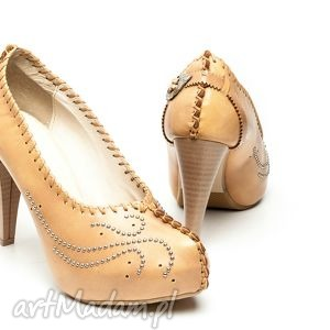 hand-made buty szpilki śnieżna zadyma