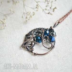 ręcznie wykonane naszyjniki talizman - naszyjnik miedziany z wisiorkiem