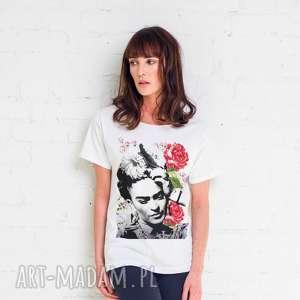 ręcznie zrobione koszulki frida flower t-shirt oversize