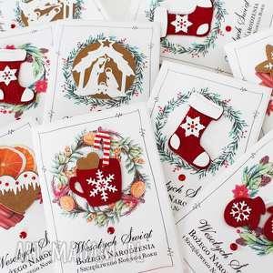 scrapbooking kartki boże narodzenie 6 szt, świąteczne, kartki