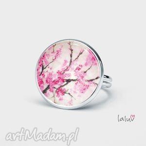 pierścionek kwiat wiśni, regulowany, kwiat, wiśnia, japonia, prezent, wiosna