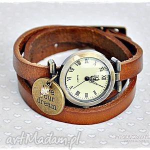 handmade zegarki skórzany zegarek motywujący