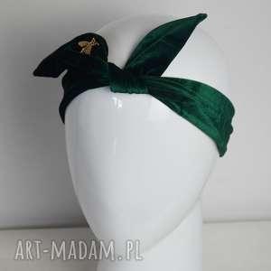Welurowy pin up opaski fascynatory welur, opaska, zielony
