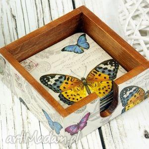 podkładki pod kubki- motyle, podkładki, podstawki, pod, kubki