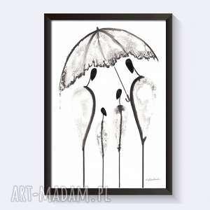 plakaty grafika wykonana na papierze o grubej fakturze, elegancki minimalizm w stylu