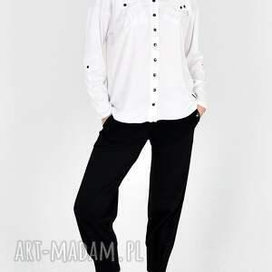hand made ubrania komplet z bawełny organicznej gaja biało/czarny
