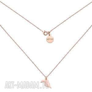 naszyjnik z różowego złota z tukanem - łańcuszek