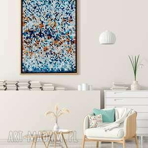 mozaika 40x60cm, abstrakcja, grafika, plakat, mozaika, sztuka, wnętrze