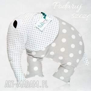 Duża poduszka przytulanka Tuliś Grey Dots, narodziny, dziecko, poduszka, babyshower