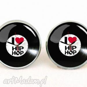 egginegg kocham hip-hop - kolczyki wkrętki - wkręty, muzyczne