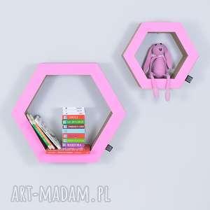półka na książki zabawki hexagon ecoono różowy - półka