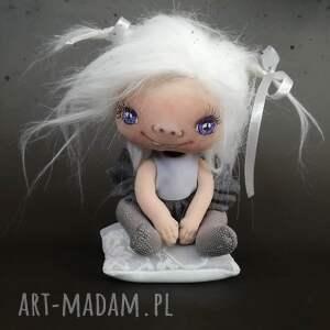 e-piet szkrab wróżka - dekoracja na komodę figurka tekstylna ręcznie szyta
