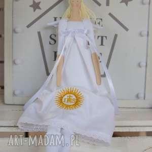 lalki anioł pamiątka pierwszej komunii świętej, anioł, tilda