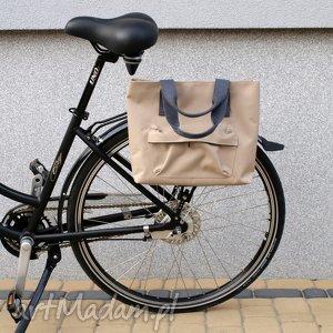 ręcznie robione na ramię torba rowerowa romania beż
