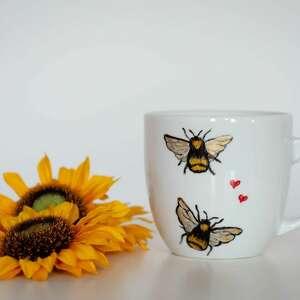 kubek - zakochane pszczoły, prezent dla niej, dziewczyny