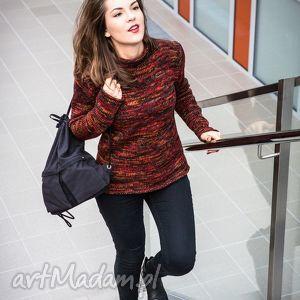 Półgolf wielokolorowy, sweter, wełna, art