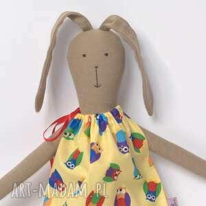 fe5d00c98e Sukienka ciazowa suzana sukienki ręcznie robione latowyprzedano lalki zając  w żółtej sukience sówki