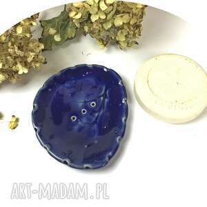 ceramiczna mydelniczka noc, polskie rzemiosło, polska ceramika, ręcznie robiony
