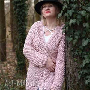 długi kardigan, recznierobiony, lato, wiosna swetry