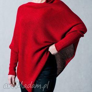 Sweter-ponczo - arthermina swetry hermina bawełna, poncho,