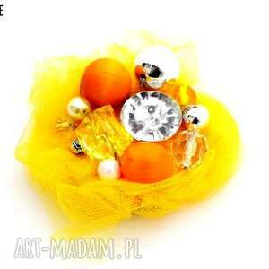 broszka orange - broszka, pomarańcz, pomarańczowa