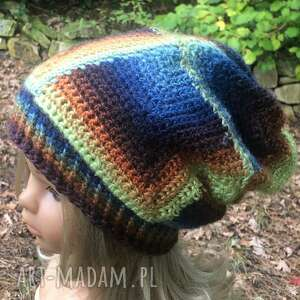 czapka patchwork, patchworkowa, damska