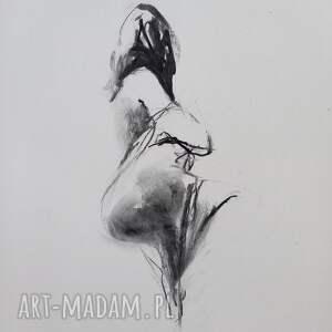 szkic kobiety 30x40, obraz do sypalni, grafika, grafika postać kobiety