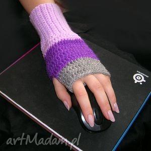 handmade rękawiczki rękawiczka, ocieplacz, mitenka do pracy przy komputerze (lewa