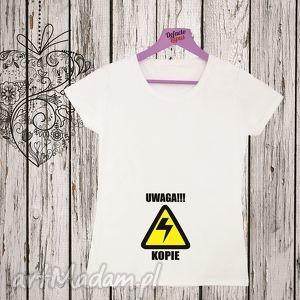 Prezent Koszulka z nadrukiem ciążowym, dla kobiety w ciąży, mama, ciążowa, ciążowe