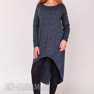 Tunika,frak,długi sweter, długi, tunika, asymetryczna, kardigan
