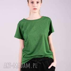 koszulki t-shirt damski klasyczny zielony, t shirt, bluzka, kardigan, bluza
