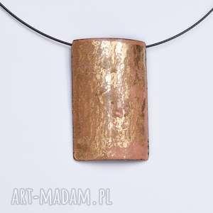 wisiorki wisior emaliowany plus złoto płatkowe, płatkowe, emalia