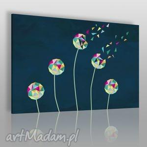 obrazy obraz na płótnie - dmuchawce geometryczny 120x80 cm 36001