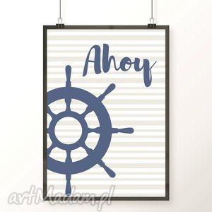 Plakat STER A4, ahoy, ster, kotwica, pirat, morze, obrazek