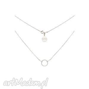 Srebrny naszyjnik z dużą zdobioną karmą, naszyjnik, celebrytka, srebrna, karma