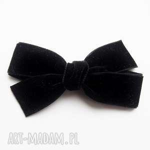 spinka do włosów kokarda velvet bow czarna, kokarda, włosów, welwet, aksamit
