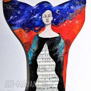 """""""potencjał"""" obraz akrylowy na drewnie artystki adriany laube"""