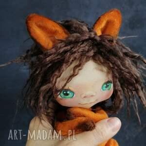 chochlik lisiczka - lalka kolekcjonerska figurka tekstylna ręcznie szyta
