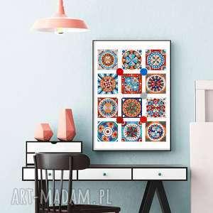 Mozaika 50x70cm, plakat, plakaty, grafika, obraz, wnętrze