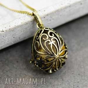 RAISA Medalionu z cytrynem - ,cytryn,zawieszka,orient,prezent,retro,vintage,