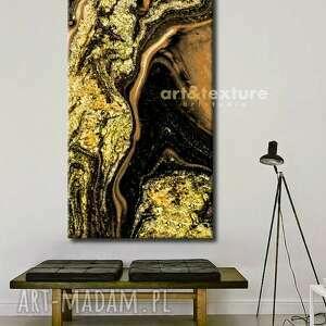 złote marzenie - obraz na płótnie, zlota dekoracja, modne wnetrze