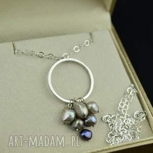 hand-made naszyjniki długi boho naszyjnik z perłami srebro
