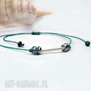 minimalistyczna bransoletka sznurkowa ze srebrem, minimalizm