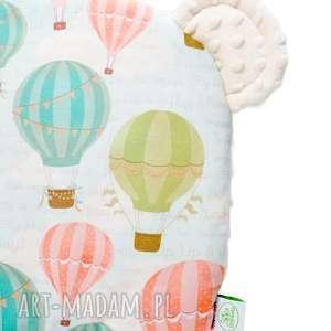 Poduszeczka miś BALONY ecru, balony, poduszka, poduszeczka, niemowlę, niemowlak,