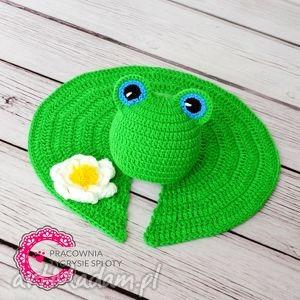 komplet żabka sesja foto, żabka, sesja, komplet, dziecko, czapka