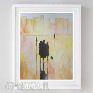 abstrakcja- akwarela formatu a4, akwarela, abstrakcja, papier, postacie
