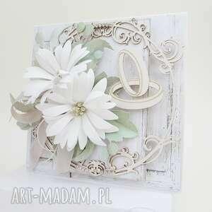 Pastelowo - w pudełku scrapbooking kartki marbella ślub
